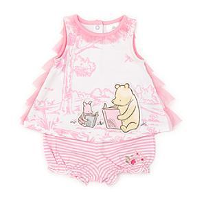 Läs mer om Nalle Puh-babyset med topp och shorts