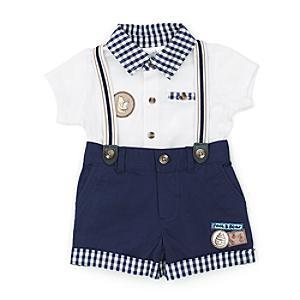 Läs mer om Nalle Puh babyset med topp och shorts