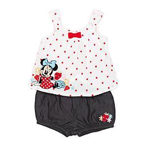Läs mer om Mimmi Pigg-babyset med topp och shorts