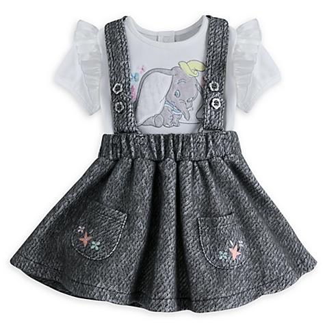 Ensemble robe chasuble et body Dumbo pour bébé - 3-6 mois