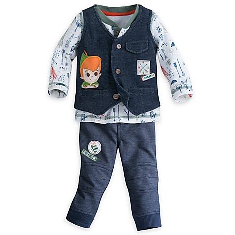 Ensemble haut, pantalon et gilet Peter Pan pour bébé - 12-18 mois
