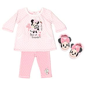 Minnie Mouse Baby Pyjama and Slipper Set -  12-18 Months