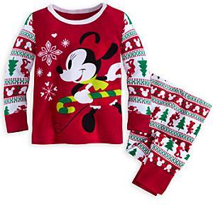 Läs mer om Mimmi Pigg babypyjamas med jultryck