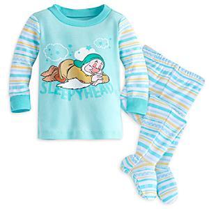 Läs mer om Trötter babypyjamas med fot, Snövit och de sju dvärgarna
