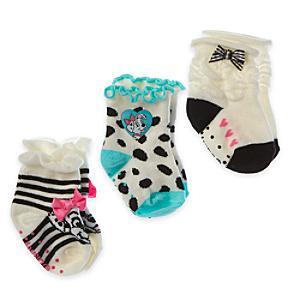 Läs mer om De 101 dalmatinerna babysockor, 3 par