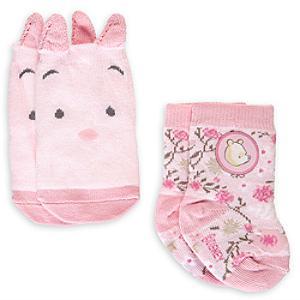 Läs mer om Nalle Puh rosa babysockor, 2 par