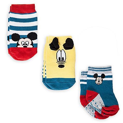 Coffret cadeau de 3 paires de socquettes pour bébé Mickey - 6-12 mois