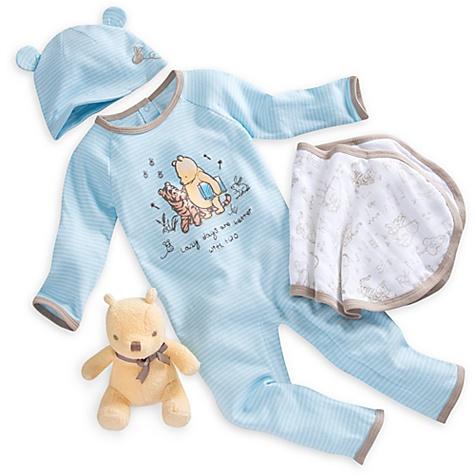 Ensemble cadeau pour bébé Bienvenue à la maison Winnie l'Ourson - nouveau né