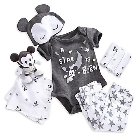 Ensemble cadeau pour bébé Bienvenue à la maison Mickey Mouse - 12-18 mois