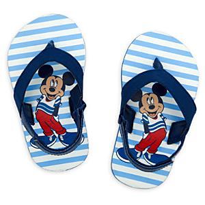 Läs mer om Musse Pigg blå flip-flops för baby
