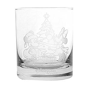 Arribas Glass Collection Christmas Mickey and Minnie Glass Tumbler