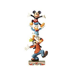Disney Traditions Mickey and Friends Teetering Tower Figurine