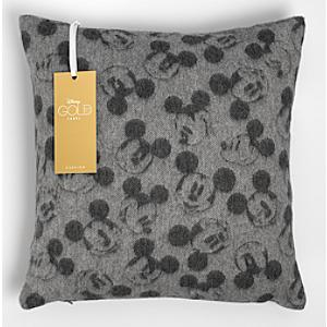Mickey Mouse Light Grey Lambswool Cushion