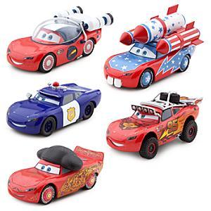 Läs mer om Disney Pixar Bilar McQueen-O-Rama diecast-modeller, set med 5