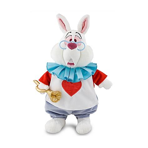 Peluche de taille moyenne le lapin blanc, alice au pays des merveilles