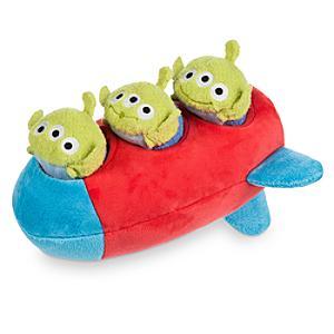 Läs mer om Raket med 3 utomjordingar som små Tsum Tsum-gosedjur, Toy Story