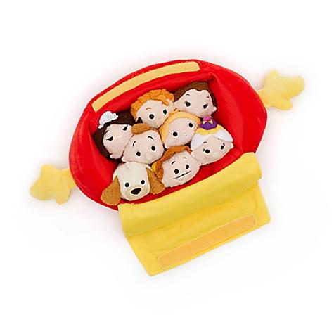Ensemble mini peluche et sac Tsum Tsum, la Belle et la Bête