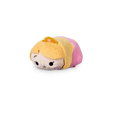 Mini peluche Tsum Tsum Aurore en robe rose, La Belle au Bois Dormant