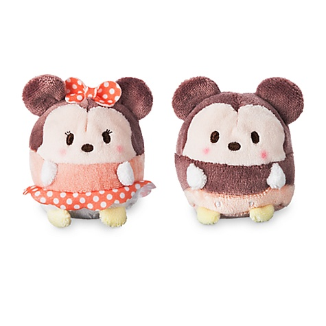 Ensemble de peluches miniatures ufufy parfumées mickey et minnie