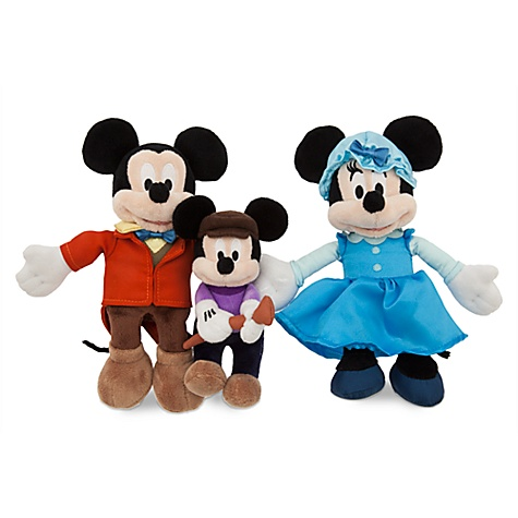 Ensemble de peluches le noël de mickey
