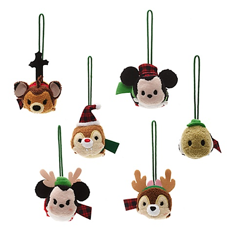 Ensemble 6 micro peluches décoratives tsum tsum à suspendre, le monde de disney