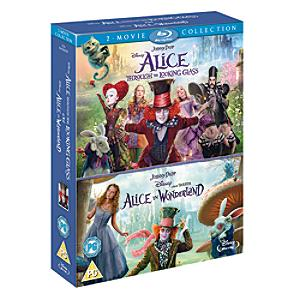 Alice In Wonderland & Alice Through the Looking Glass Double Pack Bluray