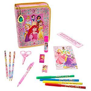 Läs mer om Disney-prinsessor pennfodral med pennor