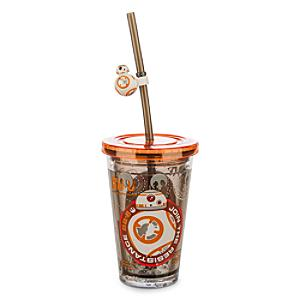 Läs mer om Star Wars BB-8 vattenfyllt dricksglas med sugrör