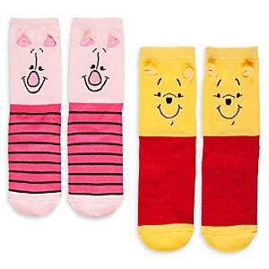 Läs mer om Nalle Puh sockor i damstorlek, 2 par