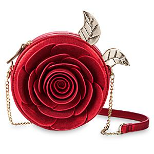 Läs mer om Skönheten och odjuret axelväska med ros