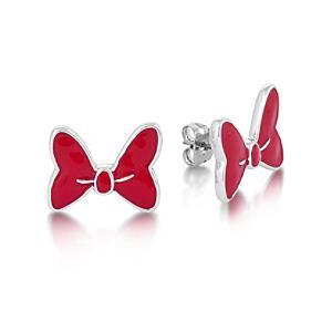 Läs mer om Disney Couture Mimmi Pigg vitguldspläterade rosettörhängen i stiftmodell