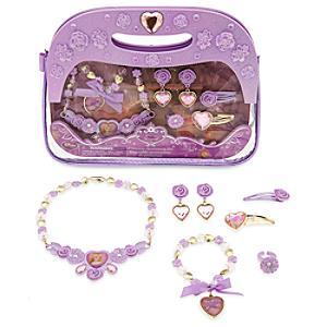 Läs mer om Rapunzel-set med smycken och handväska