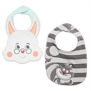 Läs mer om Alice i Underlandet haklappar för baby (2-pack)