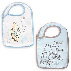 Läs mer om Nalle Puh haklappar för baby (2-pack)