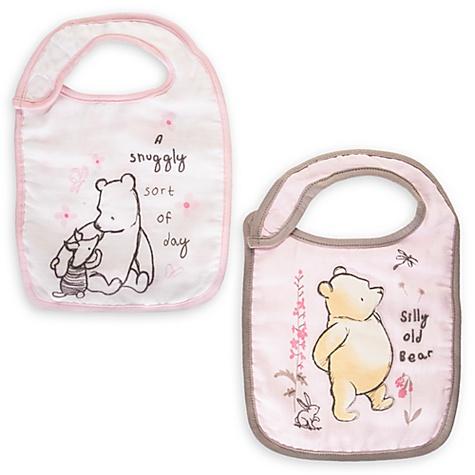 Lot de 2 bavoirs pour bébé Winnie l'Ourson