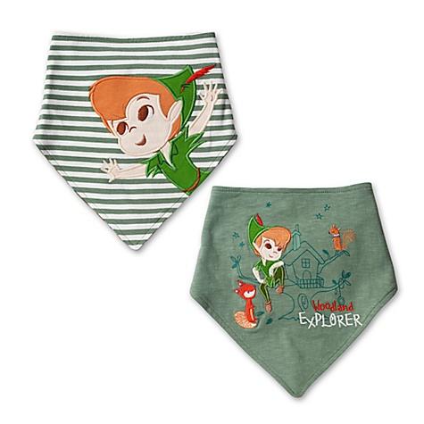 Lot de 2bavoirs bandana Peter Pan