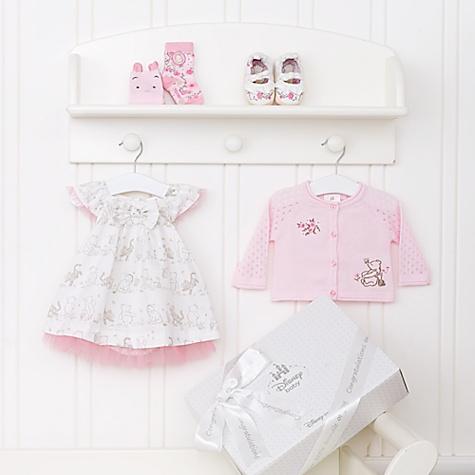 Ensemble cadeau personnalisé pour bébé Winnie l'Ourson Layette Rose - 3-6 mois