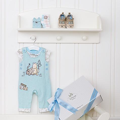 Ensemble cadeau personnalisé pour bébé Winnie l'Ourson Layette Bleu - 9-12 mois