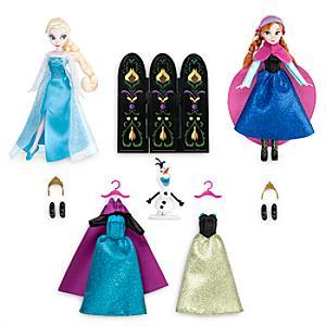 Läs mer om Elsa och Anna-dockset med garderob, Frost