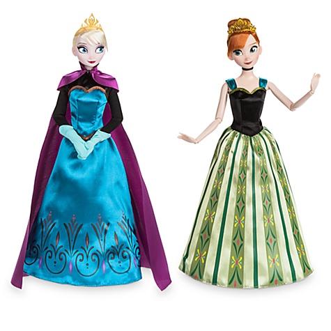Coffret de poupées classiques anna et elsa, la reine des neiges