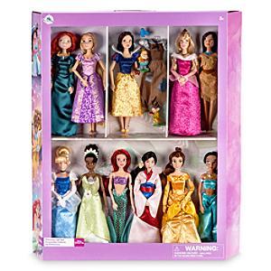 Läs mer om Deluxe Disney Prinsessor klassiska dockor, 11 st