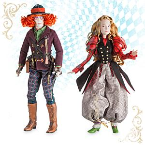 Läs mer om Alice och Hattmakaren deluxe dockor i begränsad upplaga, Alice i Spegellandet