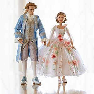 Läs mer om Belle och prinsen dockor i begränsad upplaga, Skönheten och Odjuret