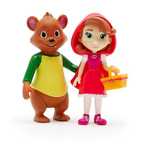 Ensemble de poupées Le Petit Chaperon Rouge et Petit Ours, Boucle d'Or & Petit Ours