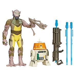"Läs mer om ""Star Wars Rebels Forest Mission Garazeb """"Zeb"""" Orrelios och C1-10P 9,5 cm figurer i 2-pack"""