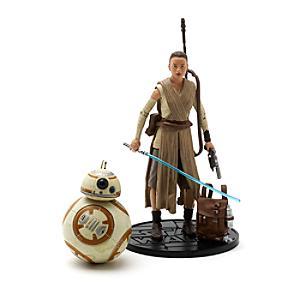 Läs mer om Star Wars Elite-serien 15 cm diecast-figurer, Rey med ljussvärd och BB-8