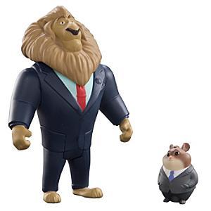 Läs mer om Borgmästare Lionheart och lämmelaffärsman figurer, Zootropolis