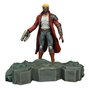 Läs mer om Marvel Select Guardians of the Galaxy Star-Lord actionfigur med sammankopplande plattform