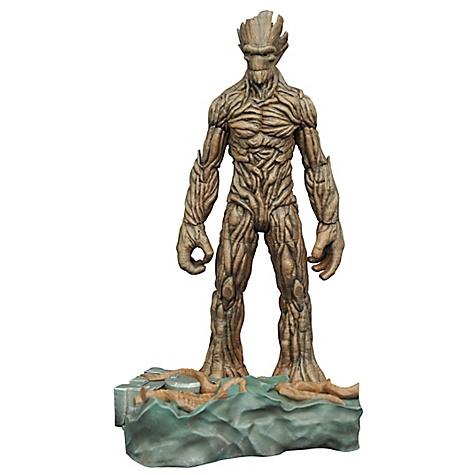 Figurine articulée de Groot avec socle encastrable Marvel Select Les Gardiens de la Galaxie