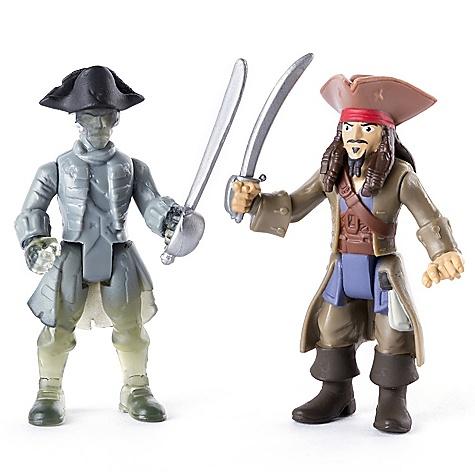 Ensemble de figurines articulées Jack Sparrow contre le pirate fantôme, Pirates des Caraïbes: La Vengeance de Salazar